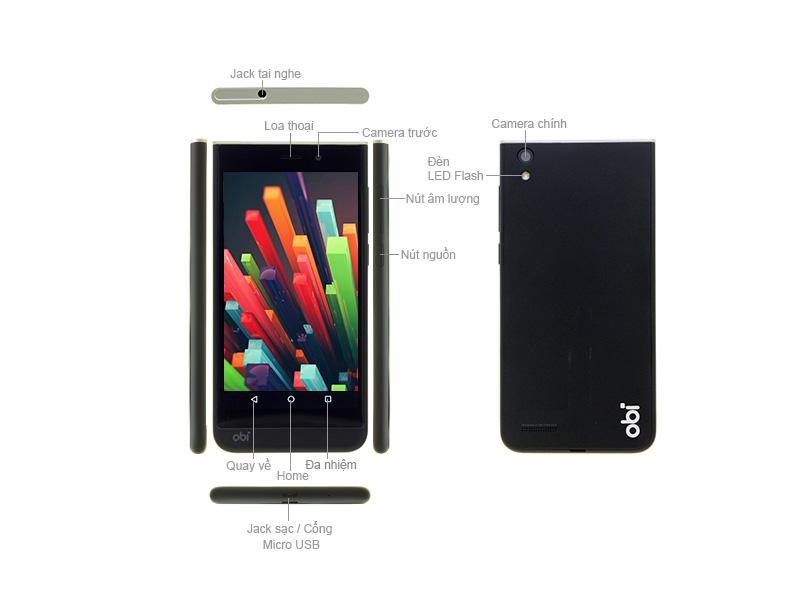 Điện thoại Obi SJ1.5 - Màu Đen