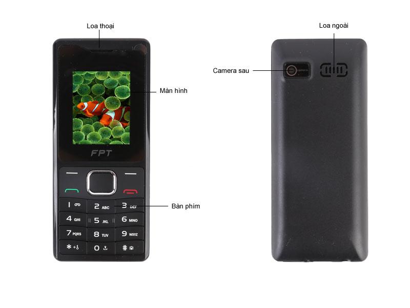 Điện thoại FPT B16 - Màu đỏ đen