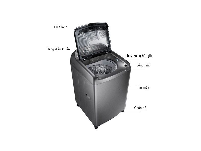 Máy Giặt Samsung WA16J6750SP/SV Bạc