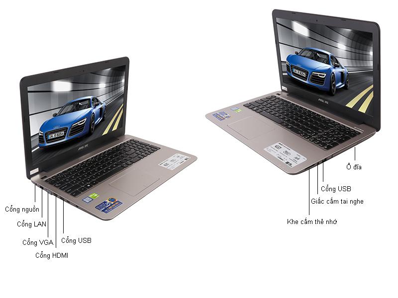 Laptop Asus A556UR-DM083D - Màu vàng kim