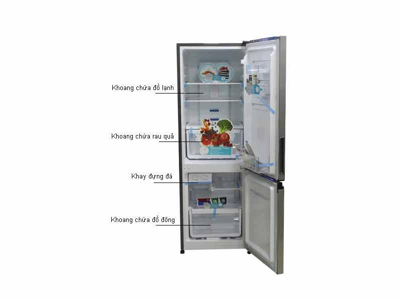 Tủ Lạnh Electrolux EBB2600MG Xám Inverter 251L