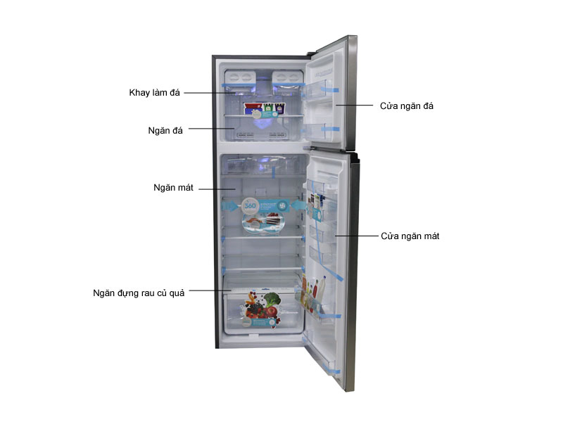 Tủ lạnh Inverter ELectrolux ETE3500AG  - Màu xám
