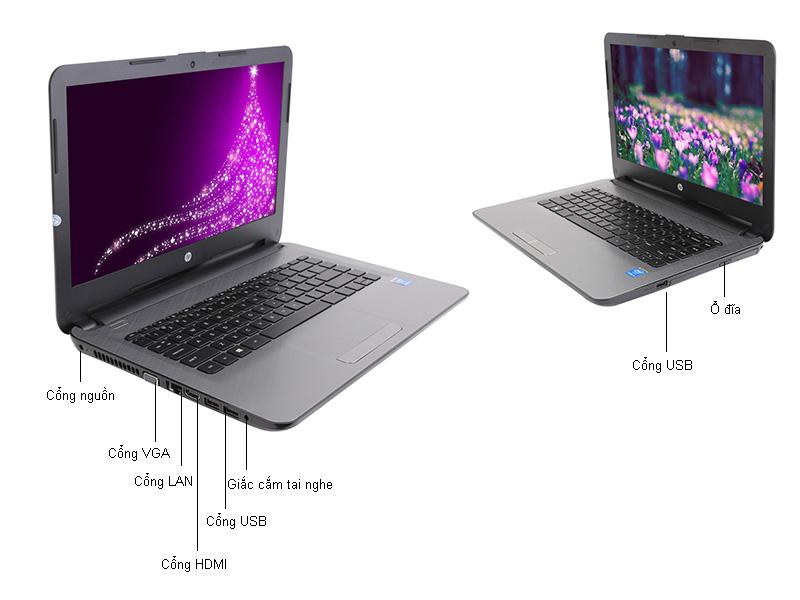 Laptop HP 14-ac133TU - Màu bạc