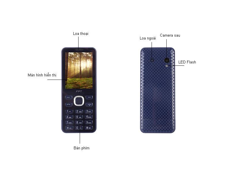Điện thoại FPT Buk 3 - Màu xanh đậm