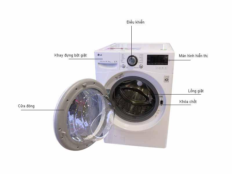 Máy giặt LG F2514DTGW - Màu Trắng