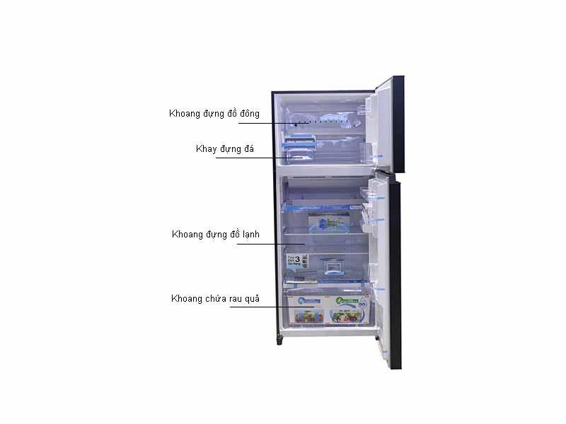 Tủ lạnh Inverter Toshiba GRHG52VDZXK - Màu Đen
