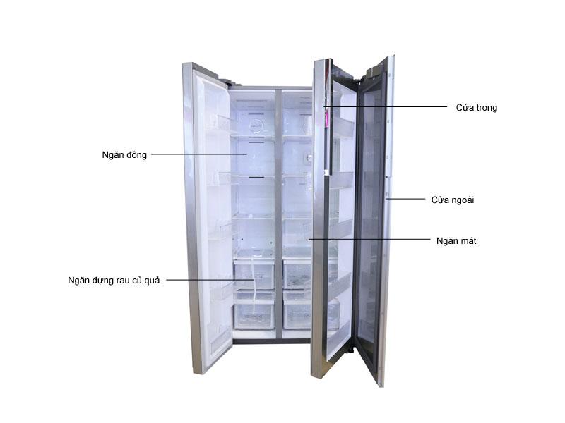 Tủ lạnh Side by side Samsung RH62K62377PSV
