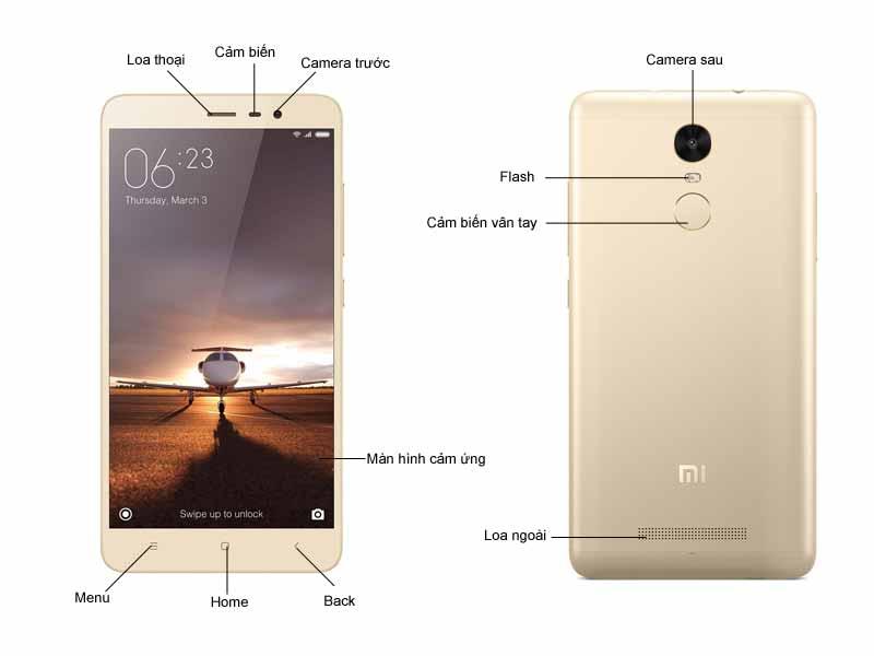 Điện thoại Xiaomi Redmi Note 3 16GB - Màu Vàng