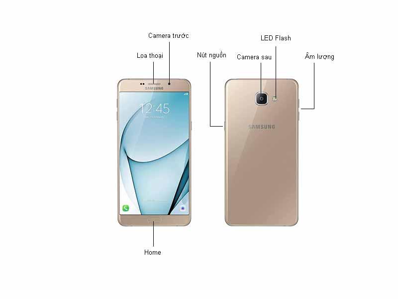 Điện thoại Samsung Galaxy A9 Pro A910 - Màu Vàng