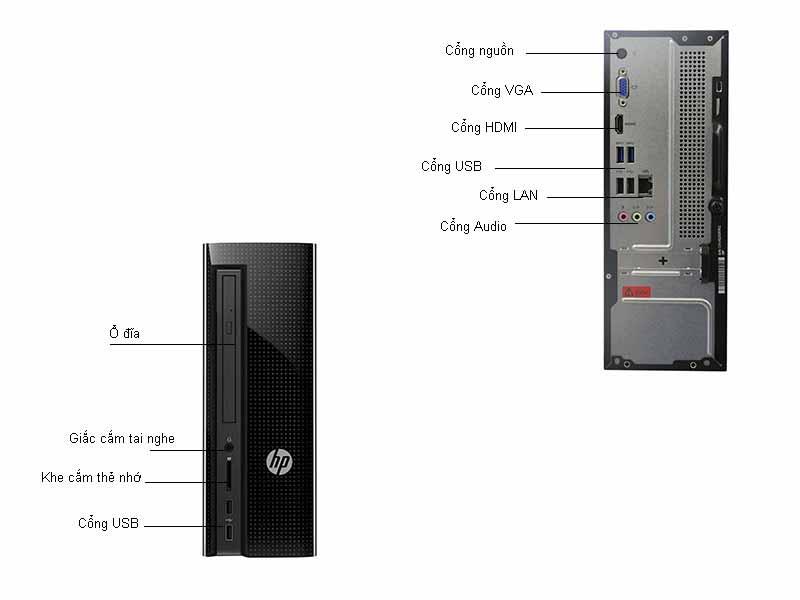 Máy tính để bàn HP Slimline 260-A056L W2T48AA