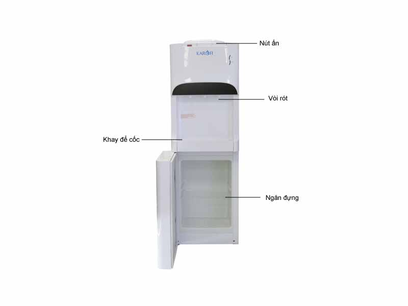 Cây nước nóng lạnh Karofi HCT011WH - Màu Trắng