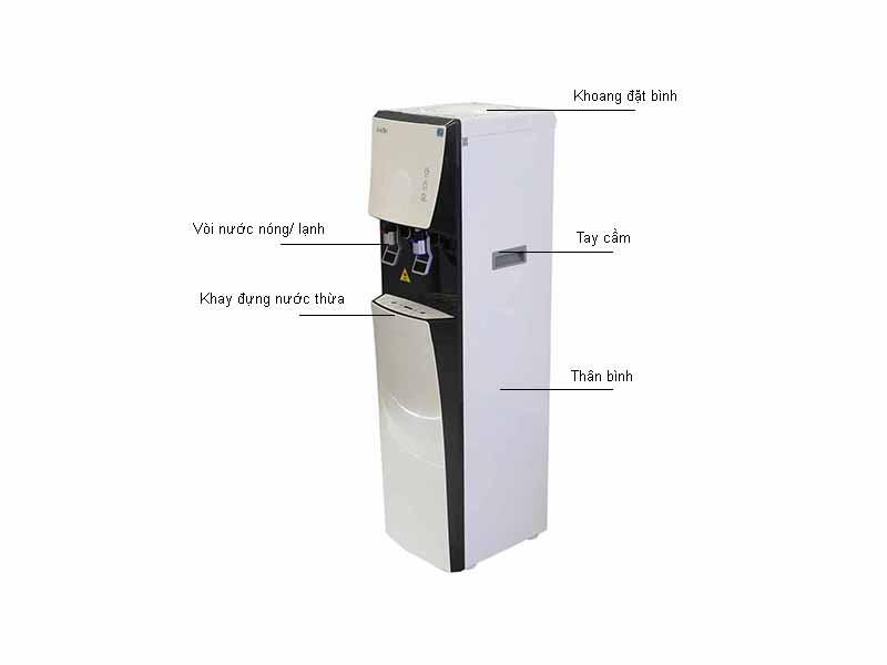 Cây nước nóng lạnh Karofi HCV051WH - Màu Đen Trắng
