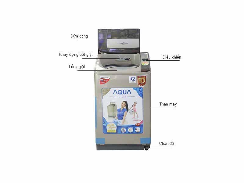 Máy Giặt Lồng Nghiêng Aqua AQWU850Z2TN
