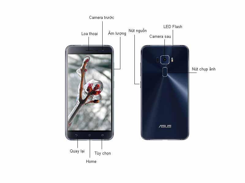 Điện thoại Asus ZenFone 3 ZE520KL - Màu Đen