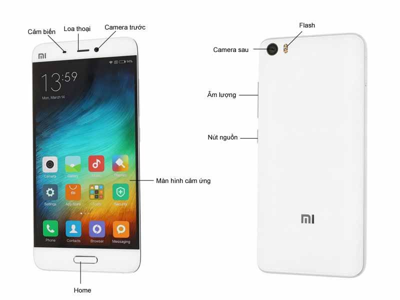 Điện thoại Xiaomi Mi 5 - Màu Trắng