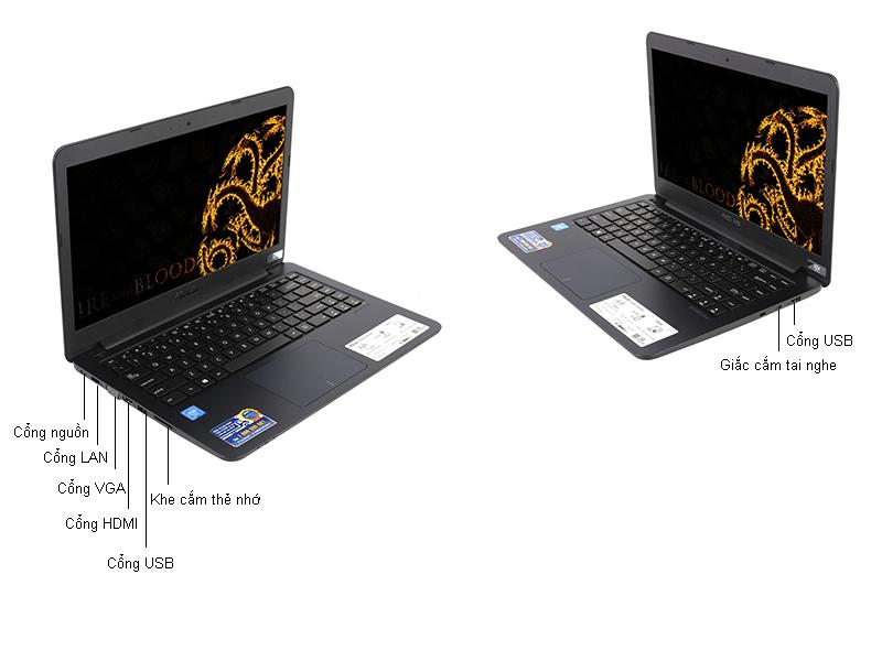 Laptop Asus E402SA-WX076D  - Màu Xanh