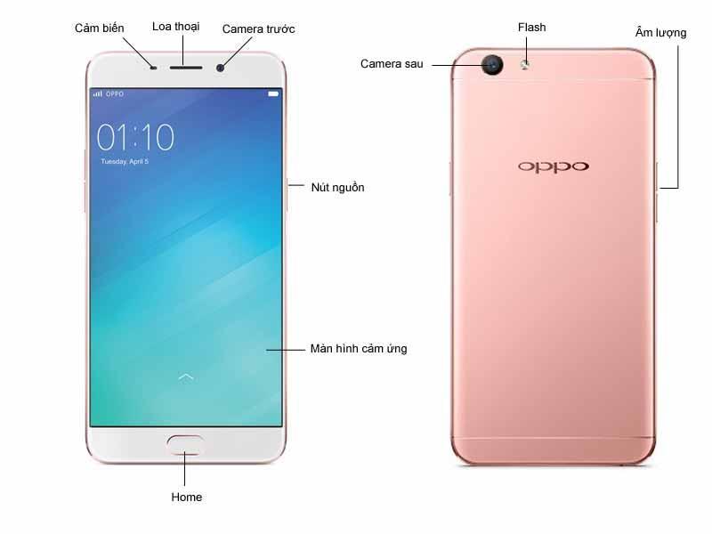 Điện thoại Oppo F1s - Màu Vàng Hồng