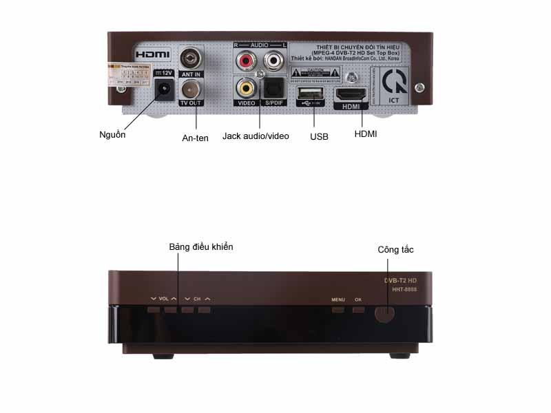 Bộ thiết bị HD MobiTV truyền hình mặt đất An Viên DTT, DVB-T2-HD