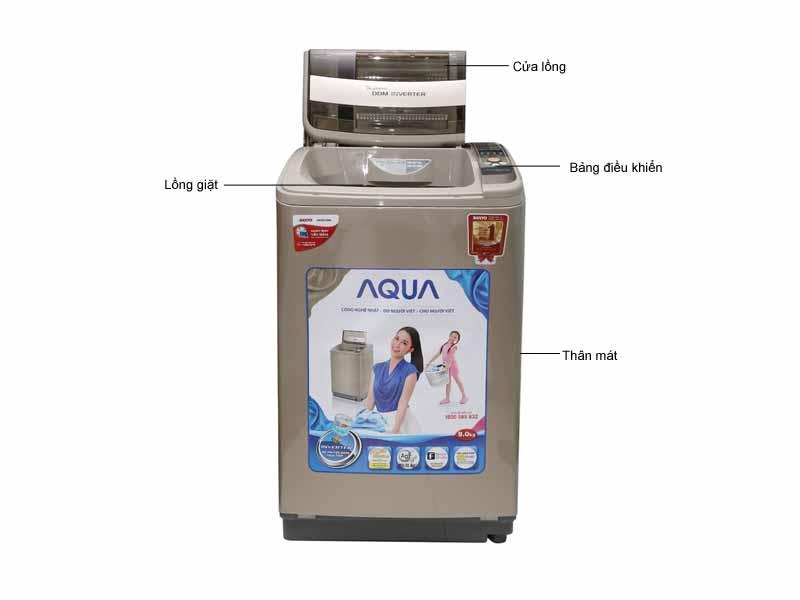 Máy giặt lồng đứng Aqua AQW-DQ90Z2TN 9Kg - Màu nâu đồng