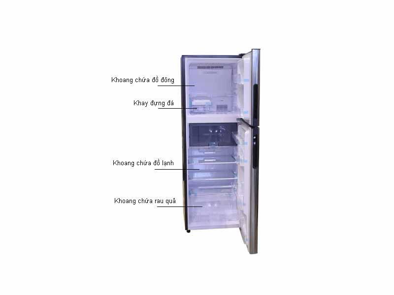 Tủ lạnh Inverter Sharp SJ-X251E-SL - Màu Bạc