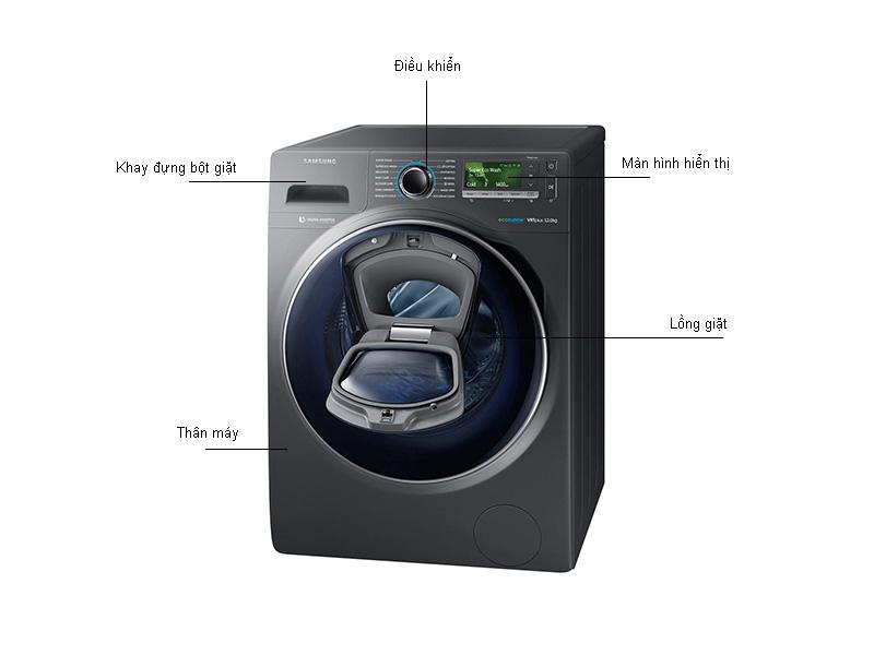 Máy Giặt Lồng Ngang Samsung WW12K8412OX/SV