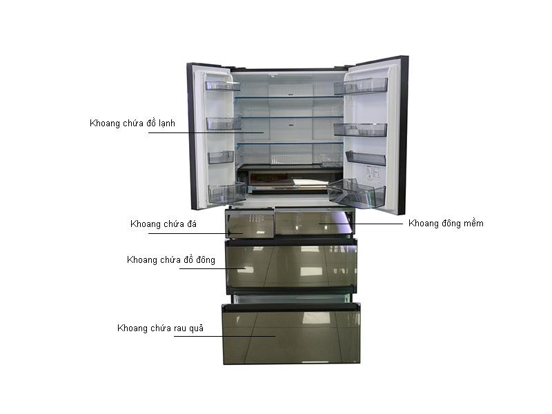 Tủ lạnh Panasonic NR-F681GT-X2 Inverter - Mặt gương