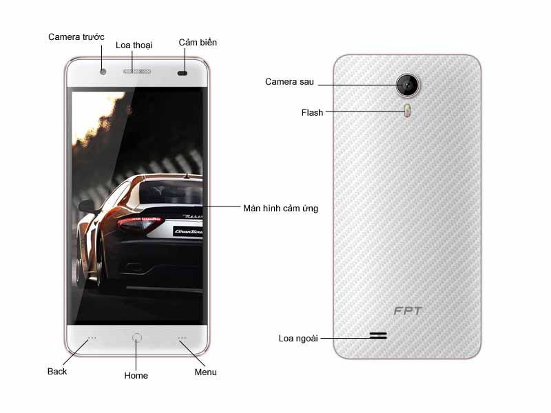 Điện thoại di động FPT X450 - Trắng hồng