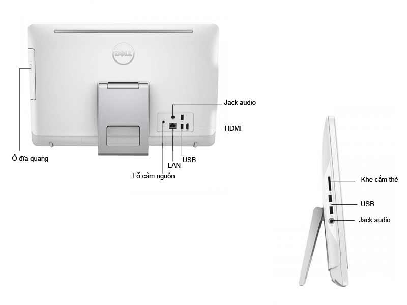 Máy tính để bàn AIO Dell Inspiron 3059