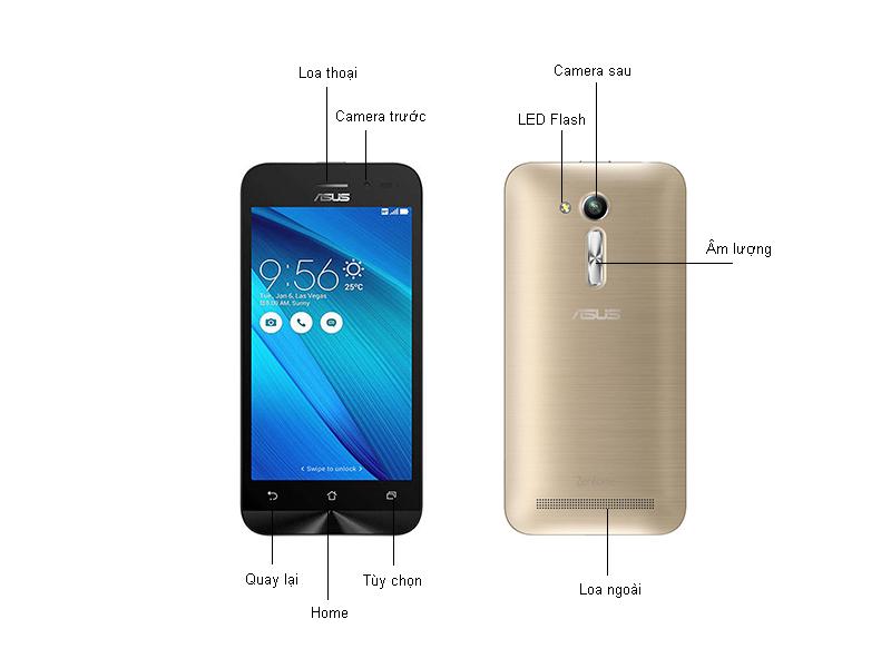 Điện thoại Asus X014D Zenfone Go 4.5 ZB452KG - Màu Bạc