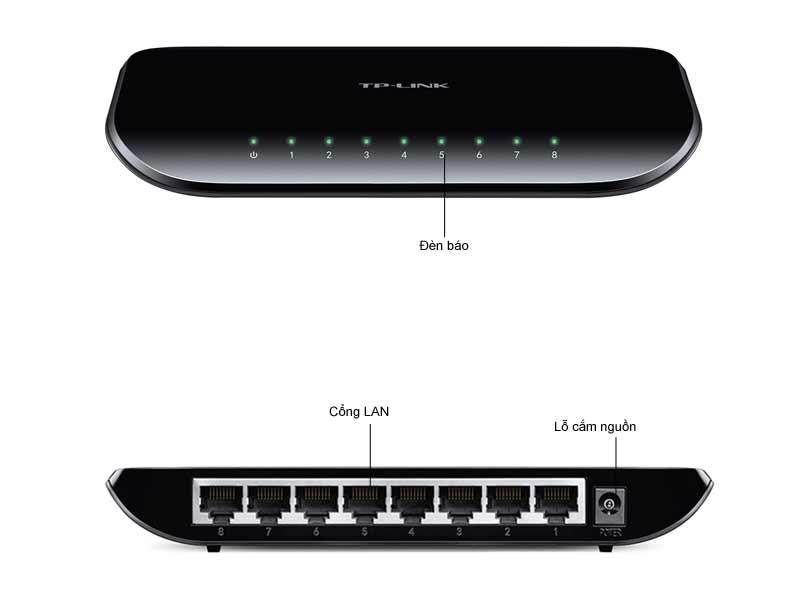 Bộ chia mạng Tplink 8-ports 10/100/1000M TL-SG1008D