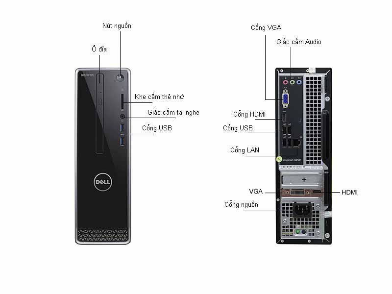 Máy Tính Để Bàn Dell Inspiron 3250STI55314