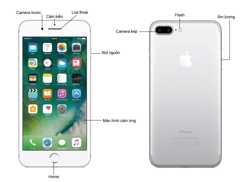 Điện Thoại iPhone 7 Plus 128GB Màu Đen Bóng (Jet Black)