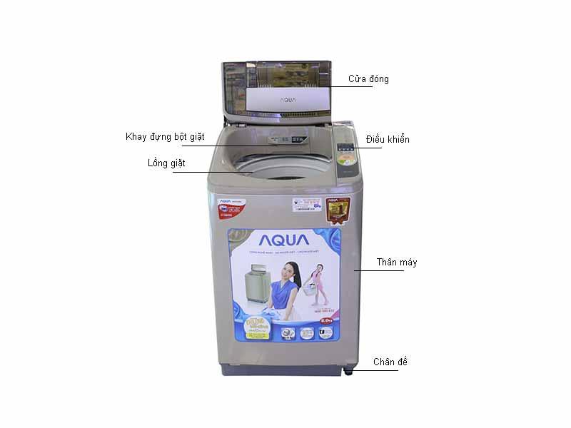 Máy giặt Aqua AQWU800Z2TN 8kg - Màu nâu đồng