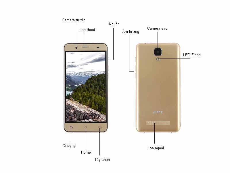 Điện thoại di động FPT X508 - Màu vàng