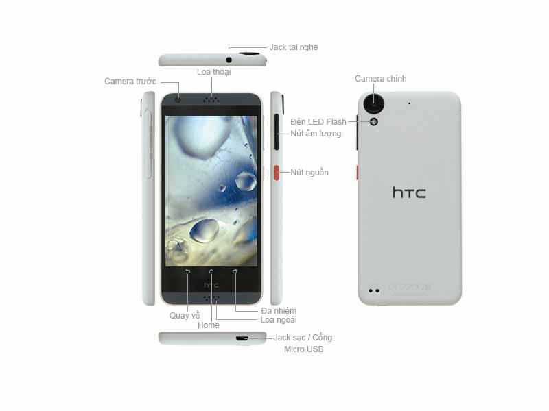 Điện Thoại Di Động HTC Desire 630  Dual Sim Màu Xanh