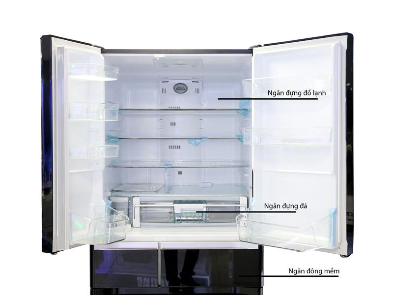 Tủ Lạnh Hitachi  E6200VXT 657L Inverter Màu Nâu