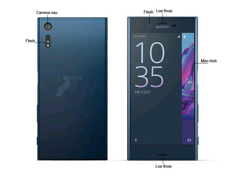 Điện thoại di động Sony Xperia XZ F8332 - Màu Xanh Forest Blue