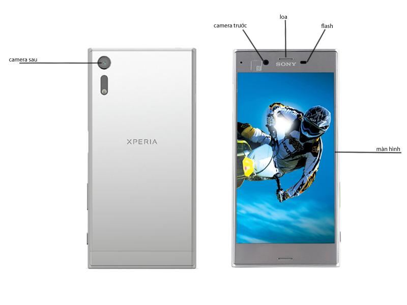 Điện thoại di động Sony Xperia XZ F8332 - Màu Bạc Platinum