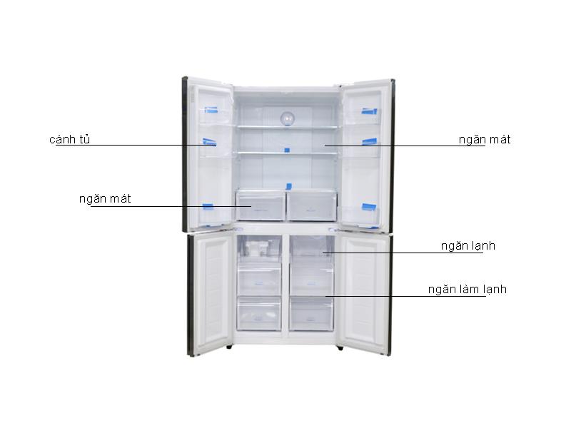 Tủ lạnh Aqua AQRIG525AMGW 456Lít