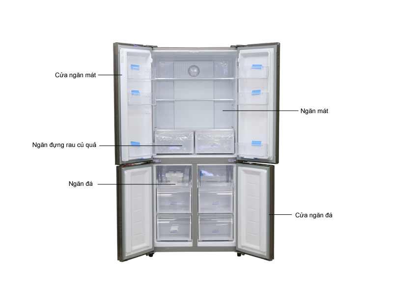 Tủ lạnh Aqua AQRIG525AMGG 456 lít Inverter - Màu Vàng
