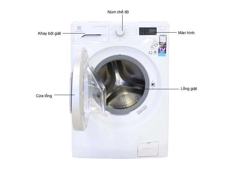 Máy Giặt Electrolux EWF12853 8kg Lồng Ngang Inverter - Màu Trắng