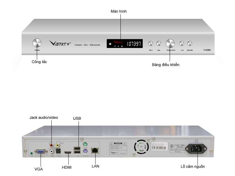 Đầu karaoke Việt KTV VK- HD Pro 4TB