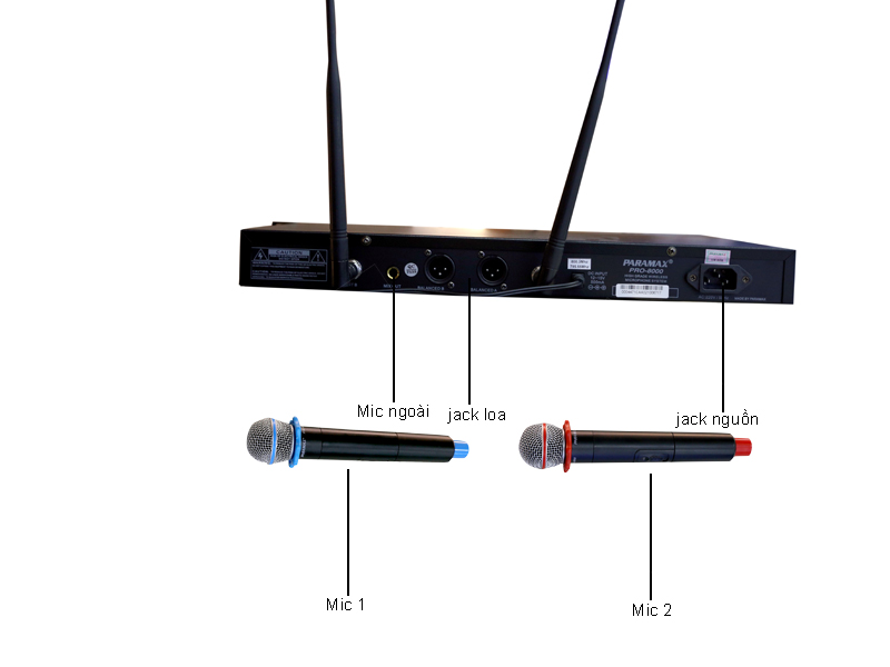 Micro không dây Paramax PRO-8000