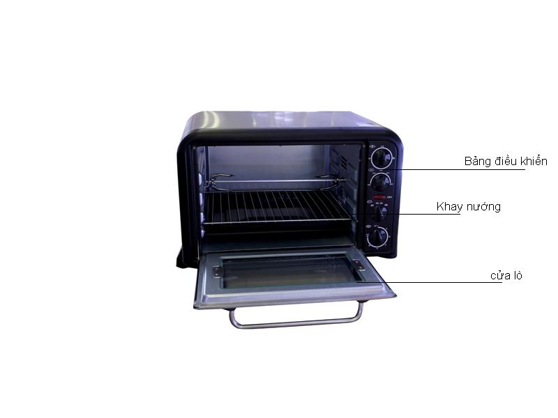 Lò nướng Sanaky VH369N - Màu Inox