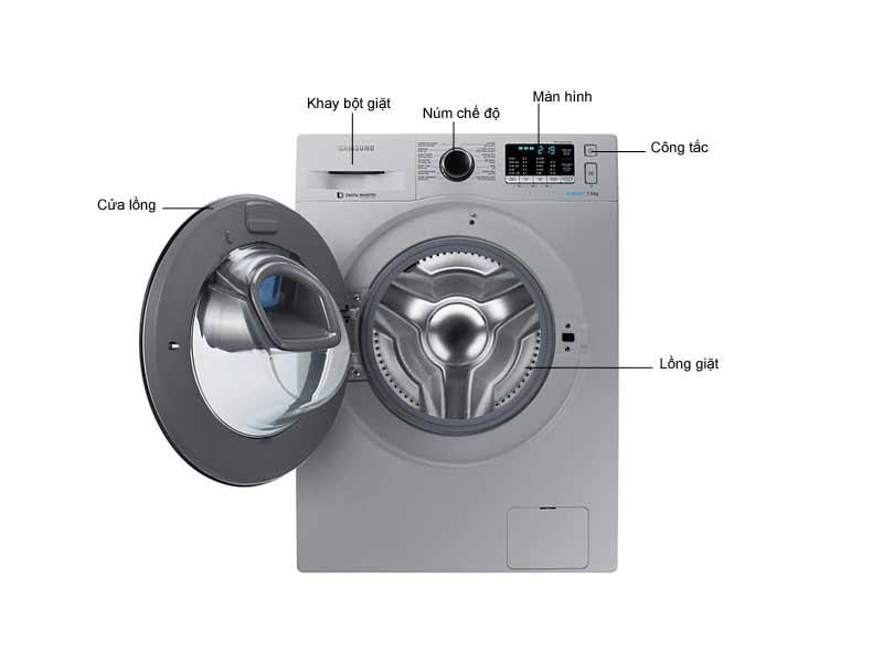Máy Giặt Lồng Ngang Samsung WW75K5210US 7.5kg