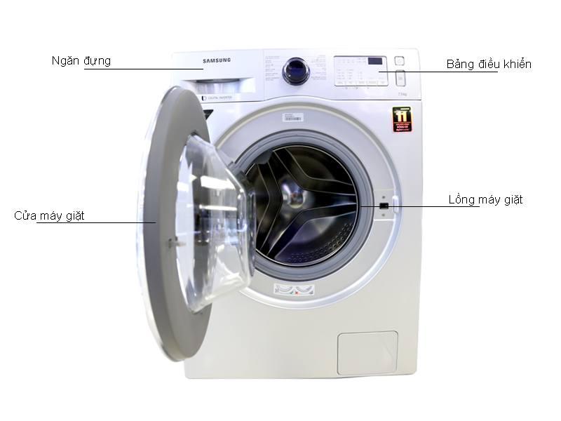 Máy Giặt Samsung WW75J4233GS 7.5 kg