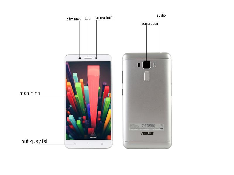 Điện thoại di động Asus ZenFone 3 Laser - Màu Bạc