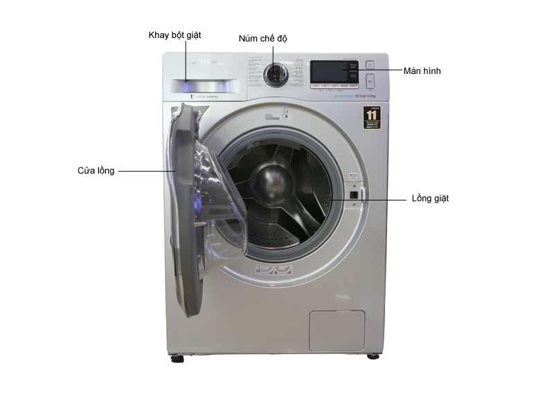 Máy Giặt Sấy Samsung WD10K6410OS/SV 10.5kg/6kg sấy