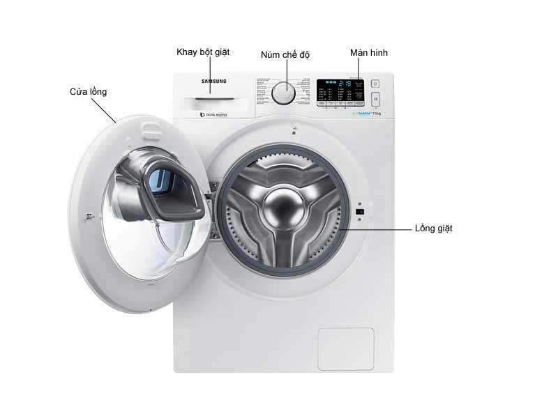 Máy Giặt Samsung WW75K5210YW Inverter 7kg