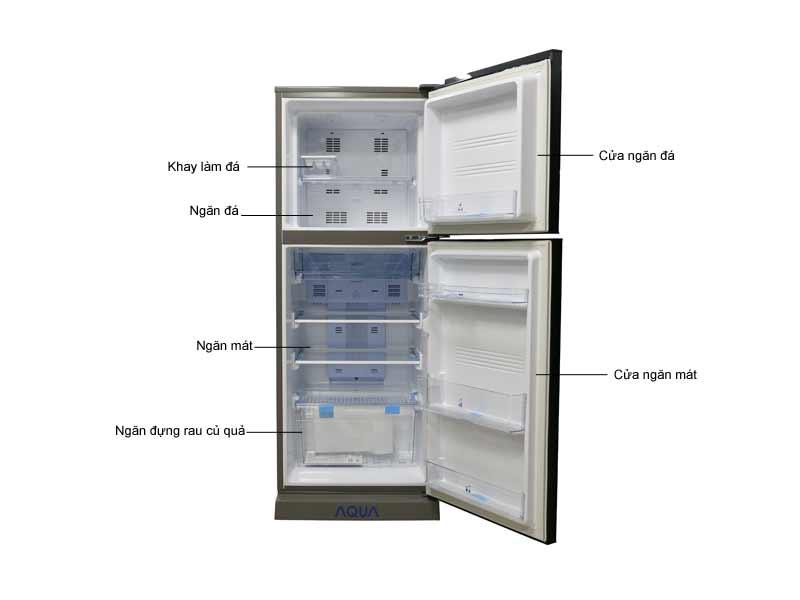 Tủ lạnh Inverter Aqua AQRI246BNDC 247 Lít